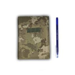 yeni kamuflaj sert kapak askeri not defteri