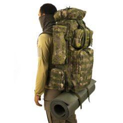 Yeni TSK Kamuflaj Desen Taktik Canta Asker Kolisi 100 L