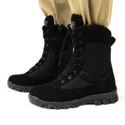 siyah askeri outdoor bot dagci bot