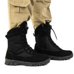 siyah askeri outdoor bot dagci bot2